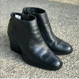 Prima Royale Leather Side Zip Booties 7.5